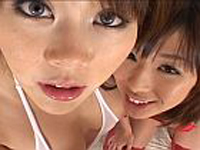 美形巨乳娘二人のWフェラで濃厚ザーメン口内射精