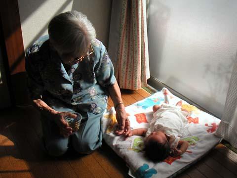おおきいおばあちゃんと息子