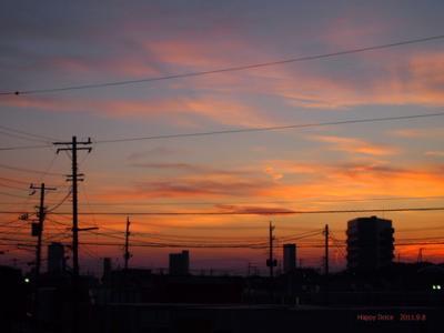9月8日の夕焼け