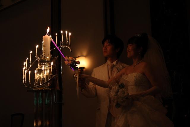 キャンドルサービス 結婚式 フォルトーナ 弘前