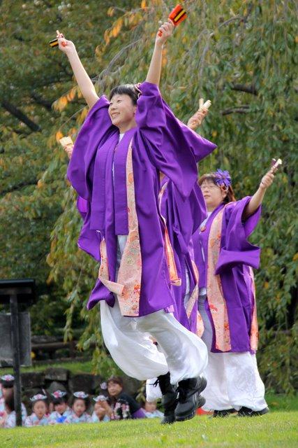弘前城 菊と紅葉まつり お城でよさこい 2010
