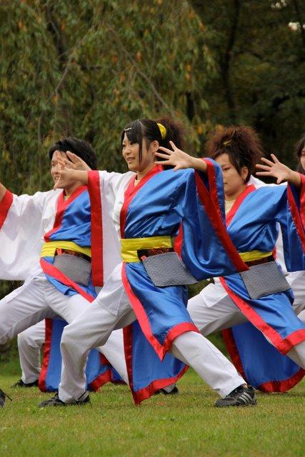 菊と紅葉まつり 弘前城 お城でYOSAKOI 2010