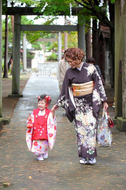 七五三 記念撮影 子ども写真 弘前 黒石 神社 ロケ 出張撮影