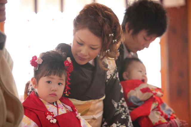 七五三 神社 出張撮影 黒石 弘前 子ども写真 記念撮影