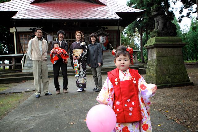 七五三 記念撮影 子ども写真 出張撮影 弘前 黒石 神社