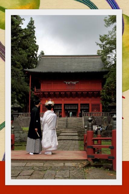 岩木山神社 弘前 結婚式 スナップ 写真 撮影 神前式