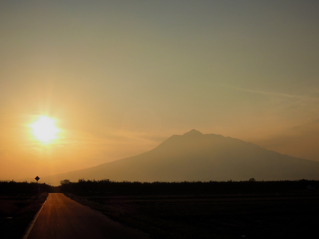 岩木山 夕日