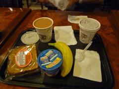デリで朝食