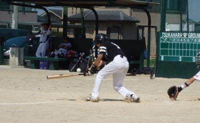 P92834545回表Big連チャンず1死二、三塁から9番中川新が投前ぼてぼて内野安打で三走尾脇生還