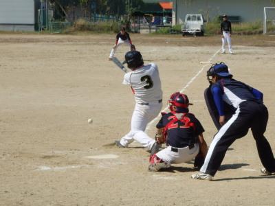 PA190095Le.visage1回裏1死三塁から4番上田の内野ゴロ間に三走の森が生還し2対2の同点とする