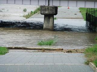 賀茂川の洪水_02_2010-07-15