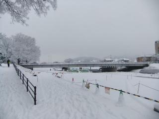 賀茂川の雪_02_2010-12-31