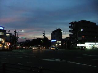 北大路堀川の夕景_2010-09-11