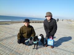 両親と散歩2