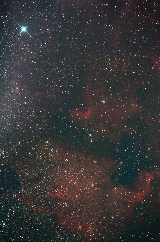 北アメリカとペリカン星雲