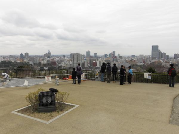 青葉山から眺めた仙台市街