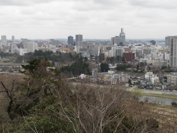 青葉山から眺めた仙台市街2