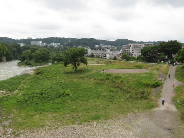 澱橋から広瀬川上流方向