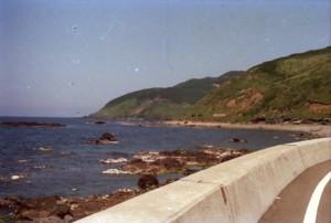 津軽半島から日本海