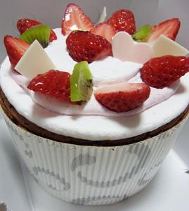 銀のぶどう苺シフォンケーキ0