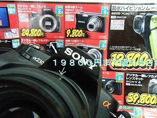 一眼(レフ)カメラはボディーのみでは使い物になりません。