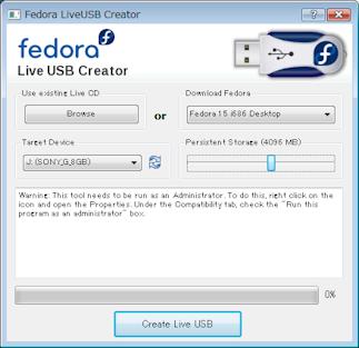 Fedora USBCreator