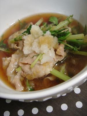 豚肉と水菜のおろし煮