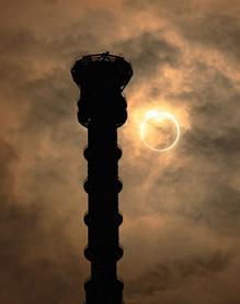 ネットでスカイツリーの金環日食を見ました。