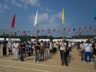 町会の班長をされています山本ラフェィ(エチオピア出身)も堂々と開会式や競技にも参加