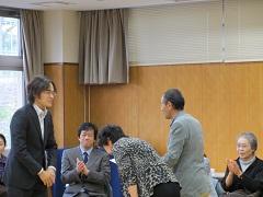 上田・横山さんに感謝状を