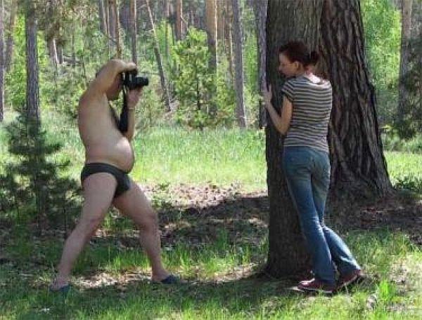 半裸カメラマン