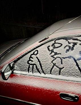 雪中走行?
