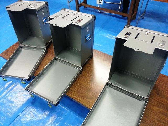 投票箱の中