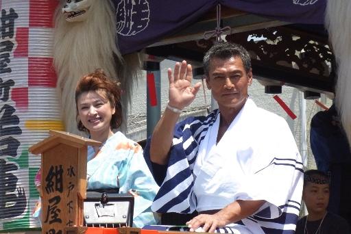 渡辺裕之さんと島崎和歌子さん