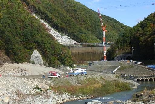 建設中の湯西川ダム