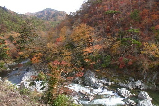 夏井川渓谷錦展望台からの眺望