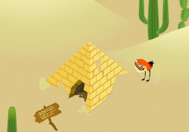 サンドワームパークにピラミッド