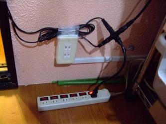 タコ足配線~?1箇所で3点灯できるようにしましたよ~♪私~なんでもできる~( ^▽^)2012.12.06