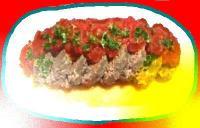 トマトソースのミートローフ