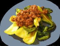 青梗菜と挽肉