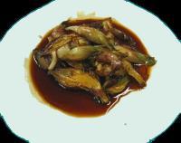 ミョウガの炒め物