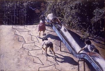 青梅・滑り台の子供たち