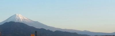 由比から望む富士山