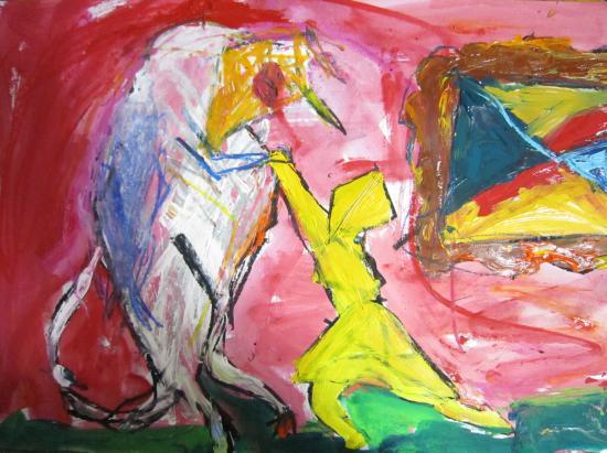 赤い部屋で、牛と踊る