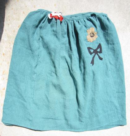 巻きスカート 緑