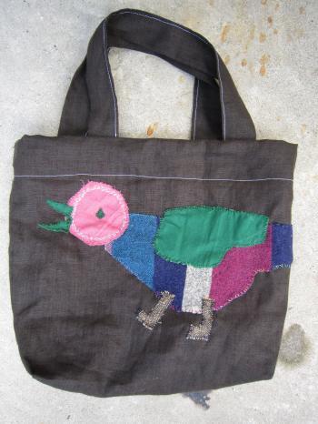 鳥かばん 小 ピンク頭