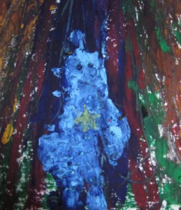 青い子供2