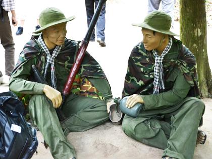 解放戦線の兵士の人形