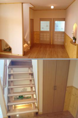1Fホールb+階段