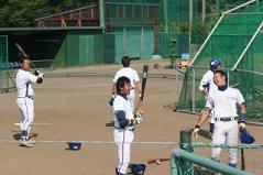 佐々木選手と前田選手